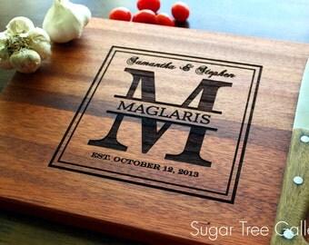 monogrammed cutting board  etsy, Kitchen design