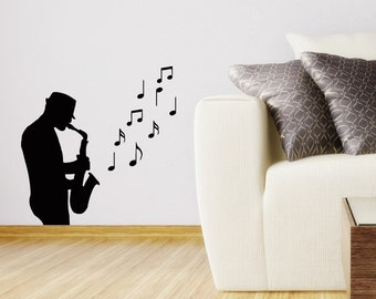 Saxophone decals Etsy