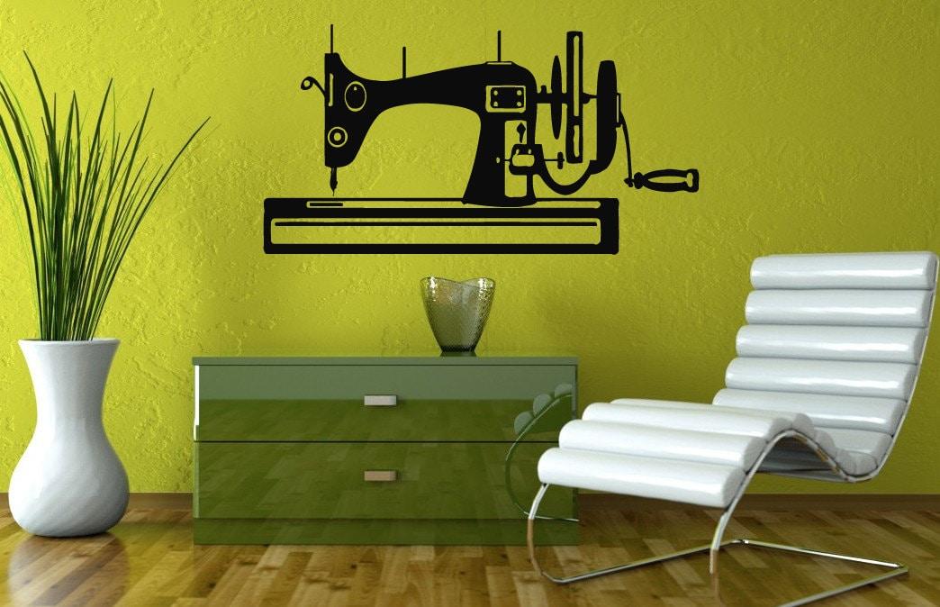 Wall Decals Sewing Machine Decal Vinyl Sticker Sewing Studio