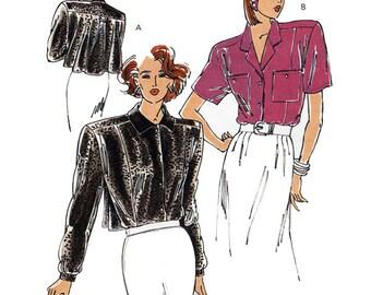 Kwik Sew Sewing Pattern 1816 Misses Blouse Size XS-L