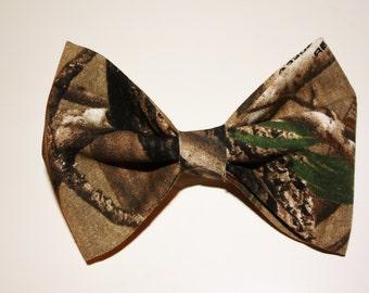 Realtree Camo Hair Bow Fabric Bows Womens Bows Teen Bows