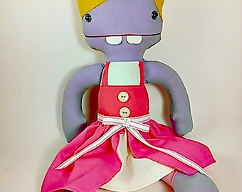 Made to Order Toy - Hand Made Rag Doll Cartoon Cloth Doll Option