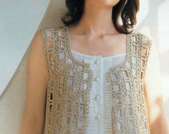 Free Crochet Pattern For Lace Vest : Popular items for crochet lace on Etsy