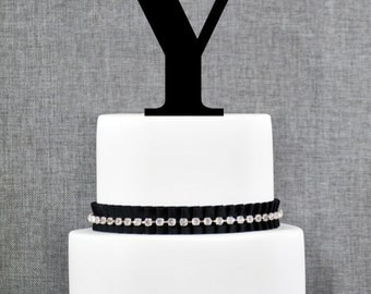 Letter Y - Initial Cake Topper, Monogram Wedding Cake Topper, Custom Cake Topper