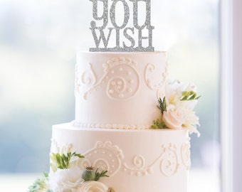 Glitter As You Wish Cake Topper, Classic As You Wish Wedding Cake Topper- (S056)