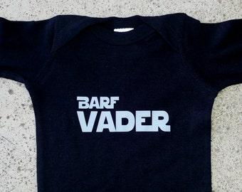Barf Vader onesie, tee or bib