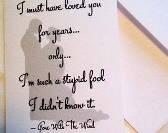 Gone With The Wind Notecard
