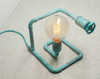 STOPO Copper Table Lamp TURQUOISE PATINA