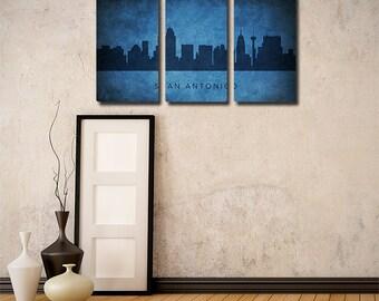 San Antonio Skyline Triptych