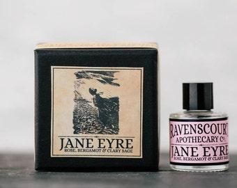 Jane Eyre Oil Fragrance - Rose, Bergamot & Clary Sage. Natural Botanical Perfume For Women. 10 ml.