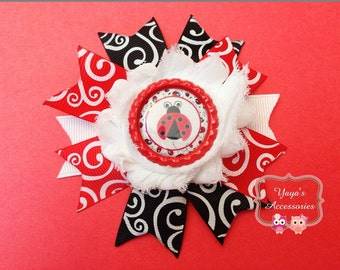 Lady Bug Hair Bow
