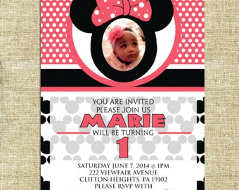 Mini Mouse Birthday - Personalized Digital file