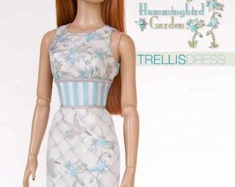 Sewing pattern for 16 inch fashion dolls: Trellis Dress