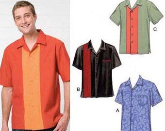 Sewing Pattern - Mens Pattern, Shirts Pattern, Kwik Sew #K3484