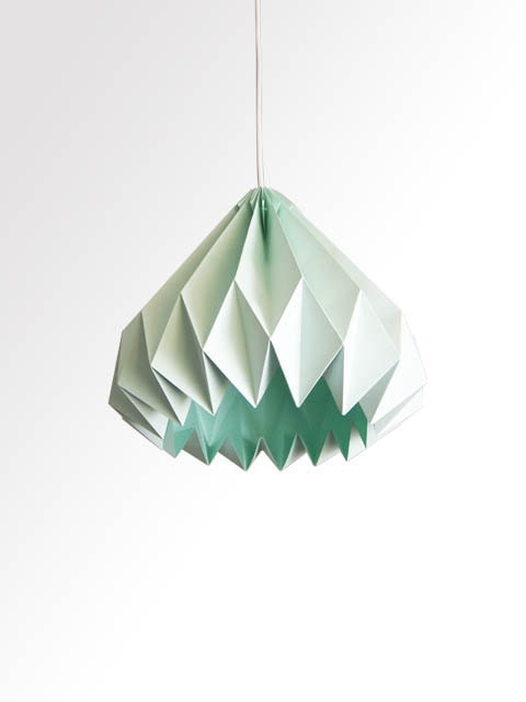 Water Drop / Origami Paper LampShade Mint green by TwReborn1 - photo#13