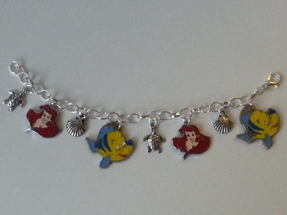 mermaid themed charm bracelet