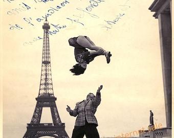 1940 ACROBATS Paris France Eiffel Tower