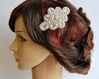 Rhinestone Bridal comb Crystal wedding Hair Comb, Great Gatsby, Vintage Hairpiece, Bridal bridesmaid Hair Accessory, Crystal Headpiece