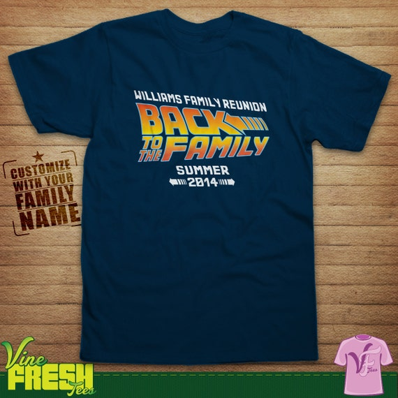 Items similar to family reunion back to the future design for T shirt business name ideas