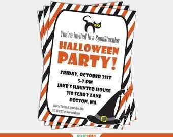Halloween Party Invitation - Kids Halloween Party Invitation - Halloween Invitation - Printable Halloween Invitations (Instant Download)