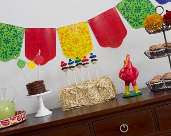 Fiesta Banner- Cinco de Mayo Colorful Banner- Mexican Banner- Fiesta Birthday Party Banner