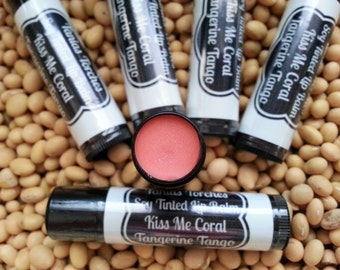 Coral Lip Balm in Tangerine Tango Flavor / Tinted Chapstick