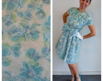 SALE 15 DOLLARS OFF! 1950-60's  silk party dress