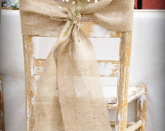 Beach Wedding Chair Sash Chair End Decor Wedding Chair - Wedding chair ties