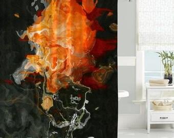 Items Similar To Fantasy Shower Curtain Contemporary Bathroom Decor Black