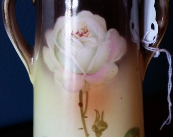 Early Czechoslovakian Vase with white rose