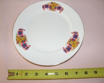 Vintage Windsor  Bone China England ROYAL CANADIAN TARTAN  Plate