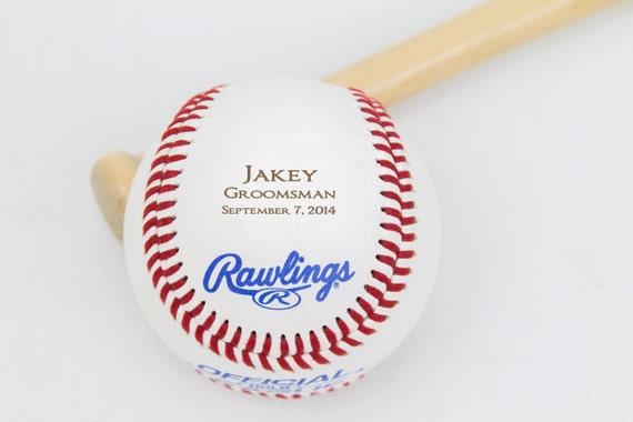 Baseball Wedding Gifts: Groomsmen Gift Baseball Personalized Gift Wedding Party
