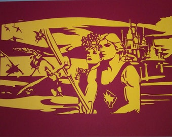 Flash Gordon Papercut Wall Art, Sci-fi Present / Movie Art