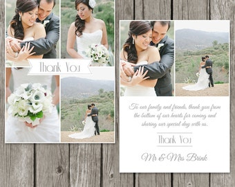 Wedding Thank You Card Template - Bridesmaid Photo Thank You Note - TY02