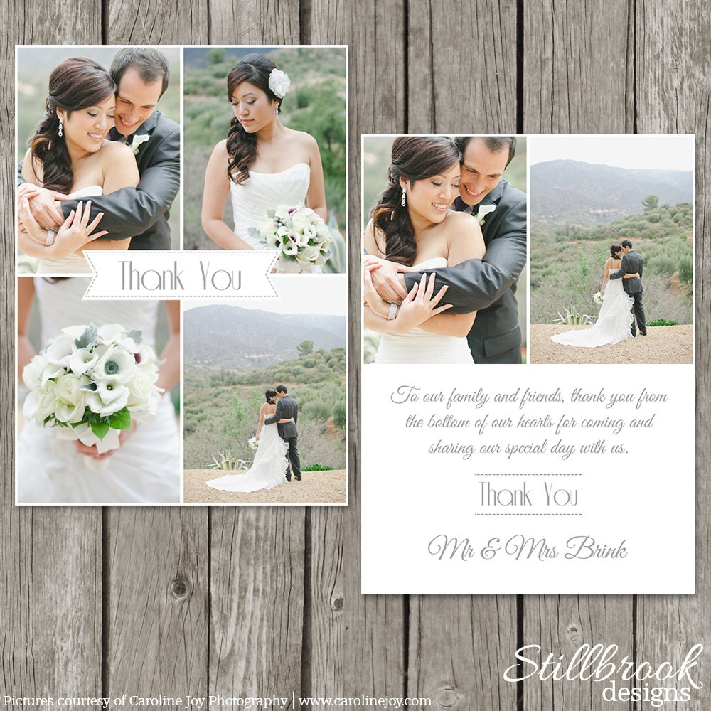 Thank You Wedding: Wedding Thank You Card Template Bridesmaid Photo Thank You
