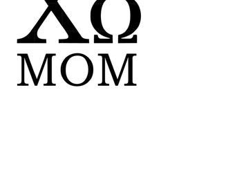 Chi Omega Owl Mom Vinyl Decal