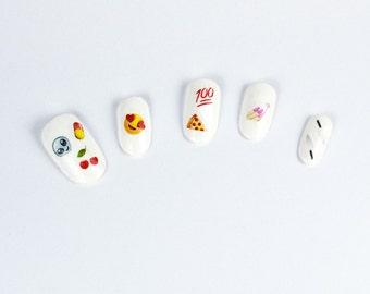 Itsy Bitsy Emoji Nail Decals