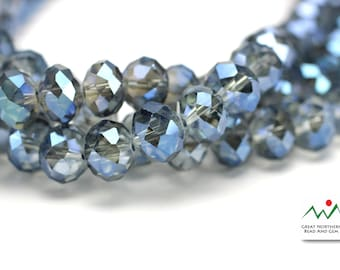 Crystal Rondelle,8MM X 10MM,Rondelle Shaped Crystal,Chinese Crystal, Full Strand #CRY061878