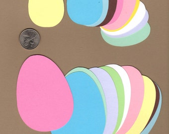 "Easter Egg Die Cuts, 20 -  two different sizes - 10 ea. 3-1/2"" and 10 ea. 2-1/2"""
