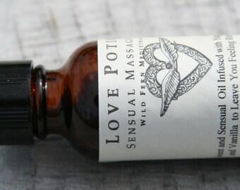Sensual Massage Oil. With Ylang Ylang, a natural aphrodisiac, Clove and Vanilla.