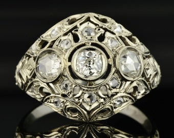 Art Deco sophisticated chic diamond ring