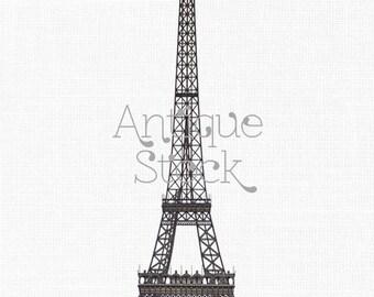 Digital Clip Art Download 'Eiffel Tower' Paris Illustration Image for Scrapbook, Card Making, Collages, Invitations...