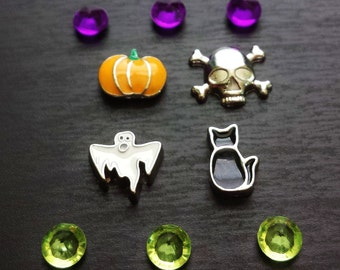 Halloween Floating Charm Set for Floating Lockets