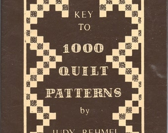 Key to 1000 Quilt Patterns by Judy Rehmel