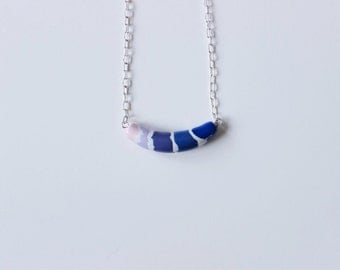 Ombre Polymer Clay Necklace
