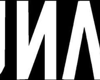 Lacuna Coil Band Text Die Cut Vinyl Decal