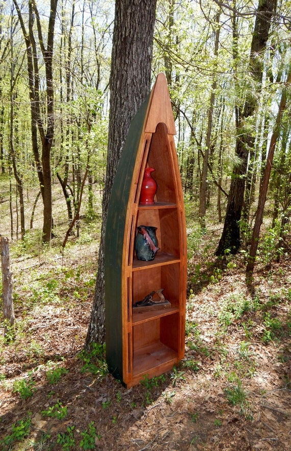 Canoe Bookcase from Rustic Reproductions