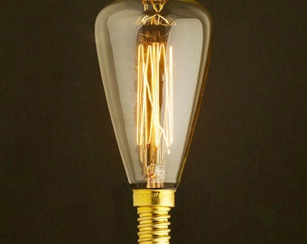 Edison E14 Squirrel Cage Filament light bulb with droplet topping - edison bulb-110V & 220V - 40w - edison light bulb - vintage style