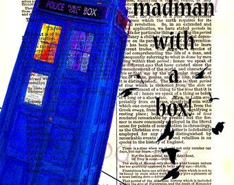 Dr Who art,instant download,Tardis printable art,Dr Who quote,dictionary print,download and print,home decor,postcard,fine art print,,4x6