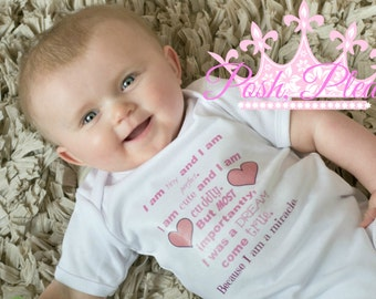 Miracle Baby Coming Home Outfit Newborn Take Home Outfit Miracle Baby Girl Going Home Outfit Hospital Creeper BodySuit Outfit Preemie Outfit